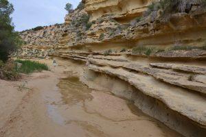 Walking in the dry river of the Rio Seco, Pilar de la Horadada